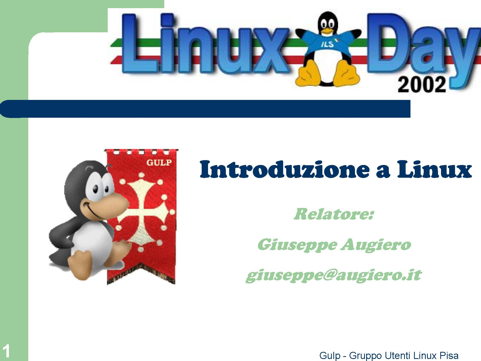 Slide: Introduzione a Linux