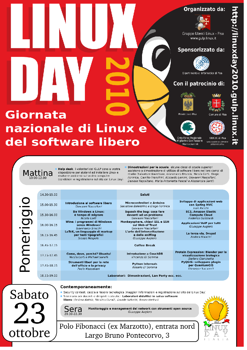 Linux Day 2010 Pisa