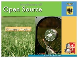 Seminario Provincia di Pisa: Introduzione all'Open Source