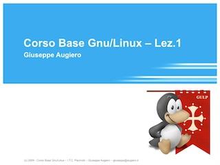 Corso Linux Base 2009  Pacinotti – Prima Lezione