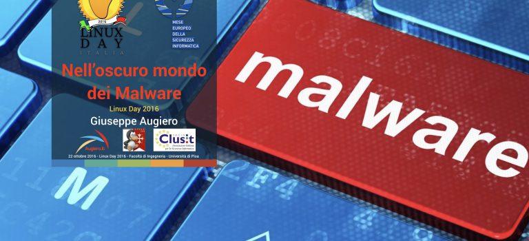 """Slide: """"Nell'oscuro mondo dei malware"""""""