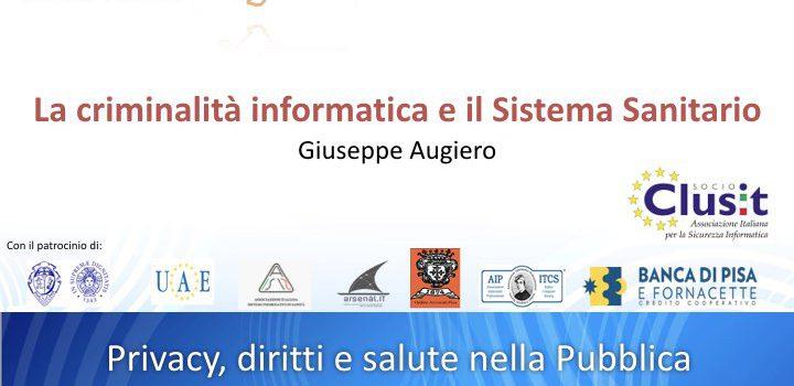 Slide convegno Apihm: La criminalità informatica il Sistema Sanitario