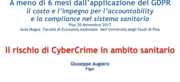 Slide: Il rischio di CyberCrime in ambito sanitario