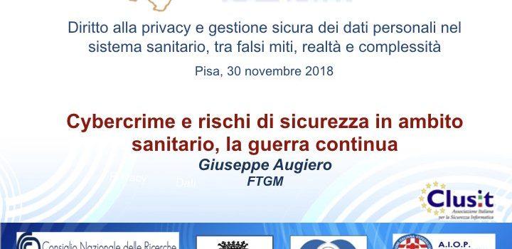 Slide convegno Apihm (Privacy in Sanità)