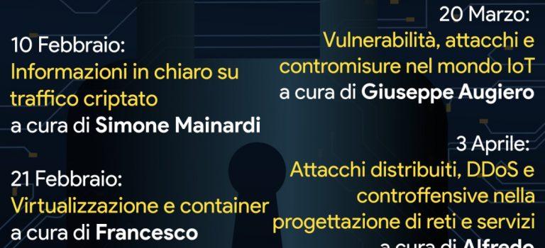Ciclo di seminari sulla CyberSecurity